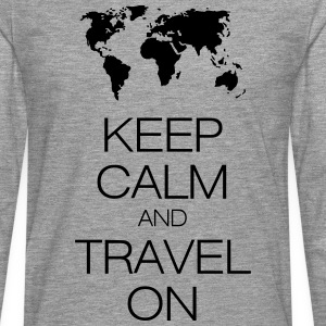 keep calm and travel on T-shirts - Långärmad premium-T-shirt herr