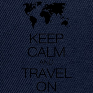 keep calm and travel on T-shirts - Snapbackkeps
