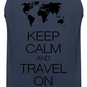 keep calm and travel on T-Shirts - Men's Premium Tank Top