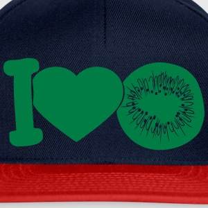 i love darling eat kiwi fruit tasty T-Shirts - Snapback Cap
