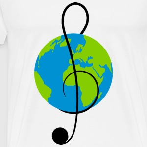 Cup with world music - Men's Premium T-Shirt