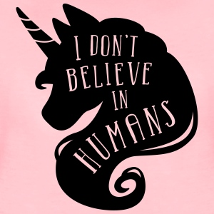 Pruim gemêleerd I don´t believe in humans - unicorn Tassen & rugzakken - Vrouwen Premium T-shirt