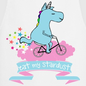 Vit Eat my stardust unicorn T-shirts - Förkläde