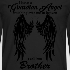 My Brother Is My Guardian Angel he Watches Over M Shirts - Men's Premium Longsleeve Shirt