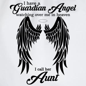 i have a guardian angel aunt T-Shirts - Drawstring Bag