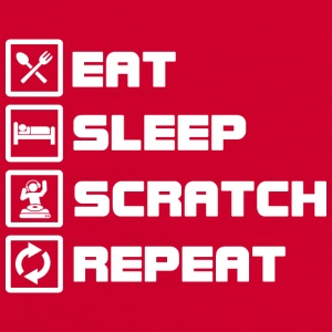 eat sleep scratch repeat DJ Caps & Hats - Men's Ringer Shirt