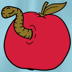 apple worm sweet disgusting hole larva caterpillar T-Shirts - Drawstring Bag