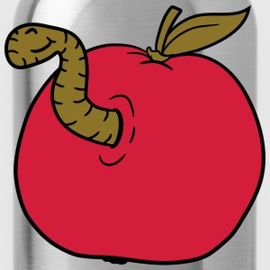 apple worm sweet disgusting hole larva caterpillar T-Shirts - Water Bottle
