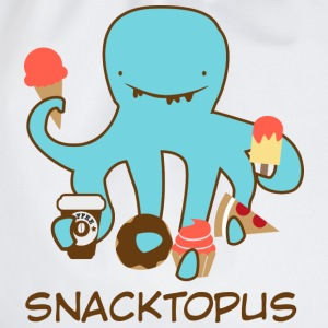 White Snacktopus T-Shirts - Drawstring Bag