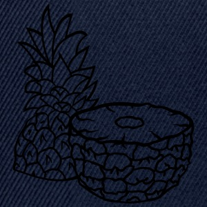 pineapple half cut half tasty food 2 halves T-Shirts - Snapback Cap
