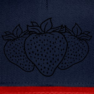 3 strawberries group many T-Shirts - Snapback Cap