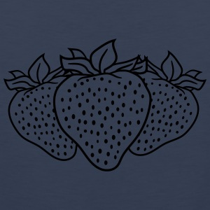3 strawberries group many T-Shirts - Men's Premium Tank Top