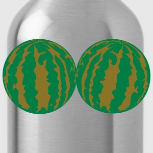 2 melons watermelon bosom breasts balls boobs funn T-Shirts - Water Bottle