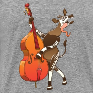 Cool Okapi Playing Double Bass Other - Men's Premium T-Shirt