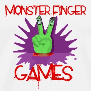 Monster Finger Games Pin Badges - Men's Premium T-Shirt