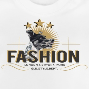 fashion-dog-oldstyle Camisetas - Camiseta bebé