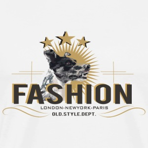 fashion-dog-oldstyle Long Sleeve Shirts - Men's Premium T-Shirt
