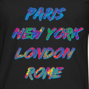 T-shirt Homme Paris-NYC-London-Rome - T-shirt manches longues Premium Homme