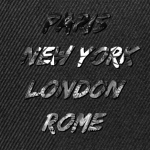 T-shirt Homme Paris-NYC-London-Rome - Casquette snapback