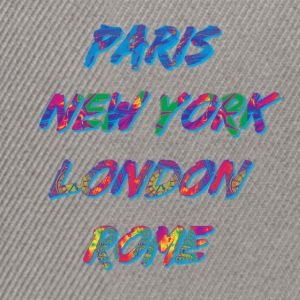 T-shirt Femme Paris-NYC-London-Rome - Casquette snapback