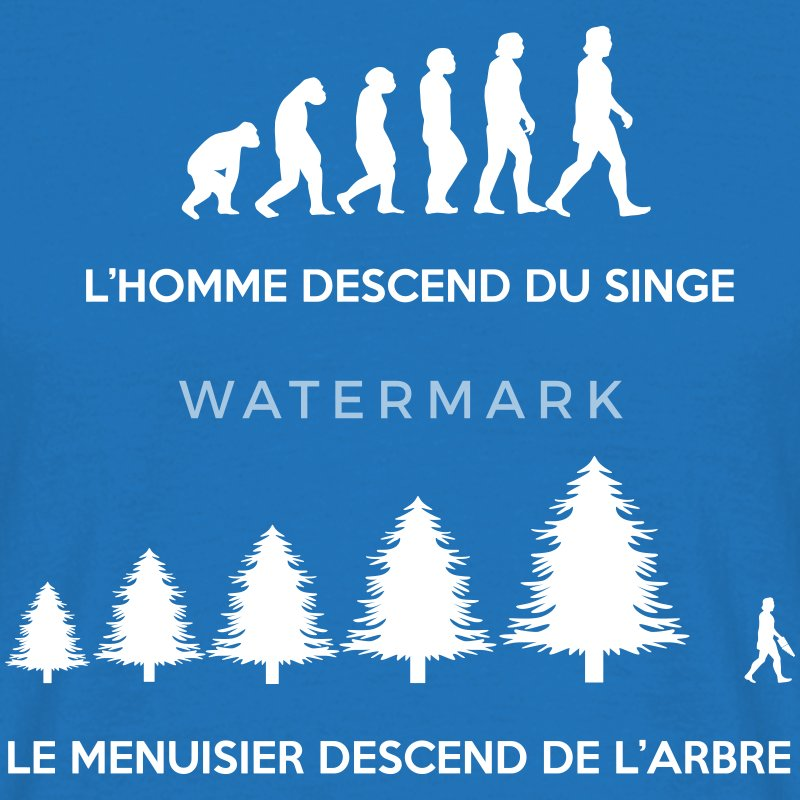 Evolution du menuisier Tee shirts - T-shirt Homme