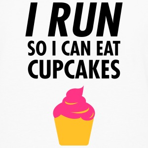I Run - So I Can Eat Cupcakes Sportkleding - Mannen Premium shirt met lange mouwen