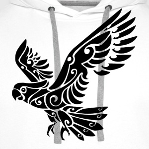 Tribal Cockatoo parrot bird tattoo - Men's Premium Hoodie