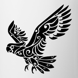 Tribal Cockatoo parrot bird tattoo - Mug
