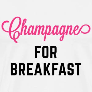 Champagne For Breakfast Funny Quote Tops - Mannen Premium T-shirt