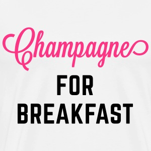 Champagne For Breakfast Funny Quote Forklær - Premium T-skjorte for menn