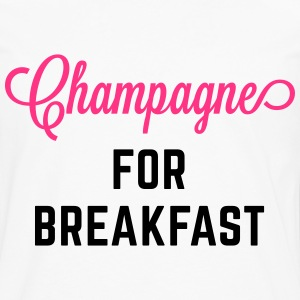 Champagne For Breakfast Funny Quote  Aprons - Men's Premium Longsleeve Shirt