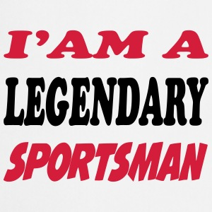 I'am a legendary sportsman T-shirts - Keukenschort