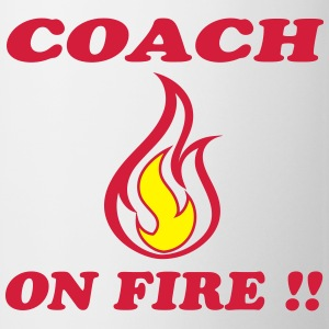 Coach on fire !! Magliette - Tazza