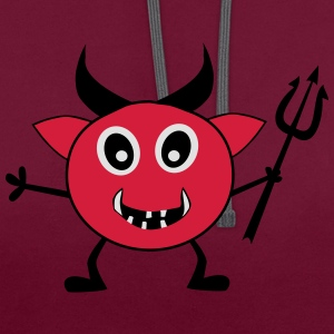 Devil with trident - Contrast Colour Hoodie