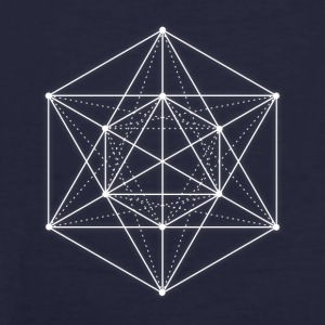 Sacred geometry / Minimal Hipster Line Art Hoodies & Sweatshirts - Men's Organic T-shirt