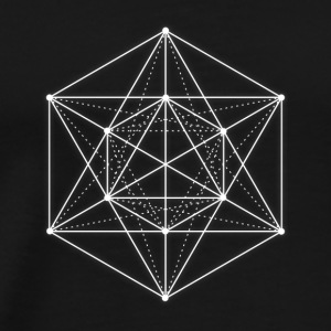 Sacred geometry / Minimal Hipster Line Art Tops - Men's Premium T-Shirt