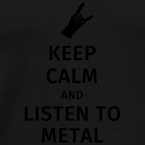 Keep Calm and Listen to Metal Muggar & tillbehör - Premium-T-shirt herr