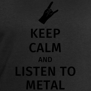 Keep Calm and Listen to Metal T-shirts - Sweatshirt herr från Stanley & Stella