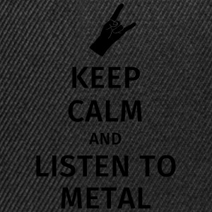 Keep Calm and Listen to Metal T-shirts - Snapbackkeps