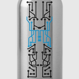 technology line connection microchip datentechnik  T-Shirts - Water Bottle