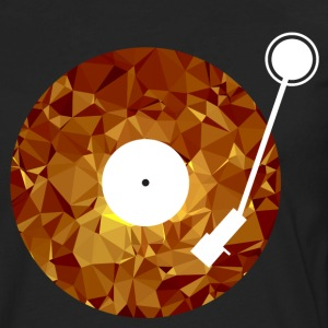 Golden Vinyl (Low Poly) T-skjorter - Premium langermet T-skjorte for menn