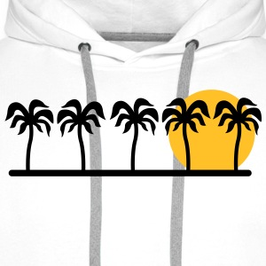 palm trees T-Shirts - Men's Premium Hoodie