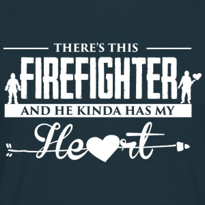 Firefighter Heart Pullover & Hoodies - Männer T-Shirt