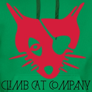 Cat's Head By ClimbCatCompany Tee shirts - Sweat-shirt à capuche Premium pour hommes