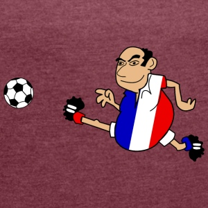 French footballer - Women's T-shirt with rolled up sleeves