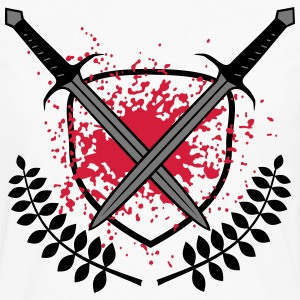 bloody swords Spartan blood splatter T -Shirts - Men's Premium Longsleeve Shirt