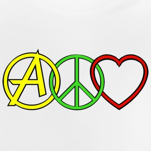 ANARCHY PEACE & LOVE Shirts - Baby T-Shirt