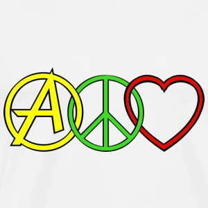 ANARCHY PEACE & LOVE Sports wear - Men's Premium T-Shirt