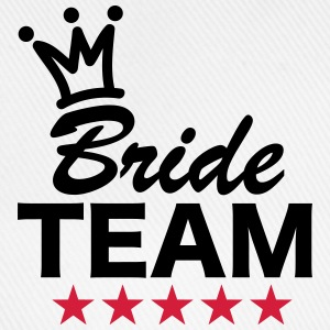Bride, Team, Wedding, 5 Stars, Crown, Marriage T-shirts - Basebollkeps