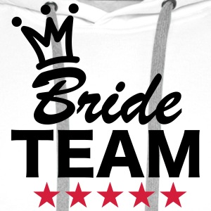 Bride, Team, Wedding, 5 Stars, Crown, Marriage T-shirts - Premiumluvtröja herr